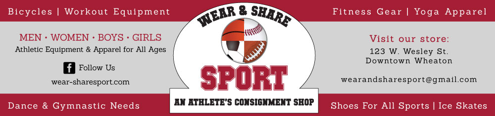 Wear and Share Sport banner that links to wear-sharesport.com site